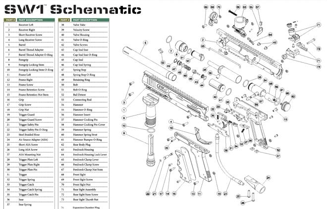 Valken V-TAC SW-1 SW-1 Part #17 Grip Screw