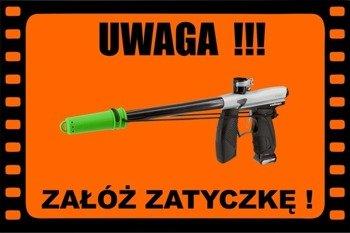 Baner/Tablica Ostrzegawcza Informacyjna Field Sign Banner - Załóż Zatyczkę